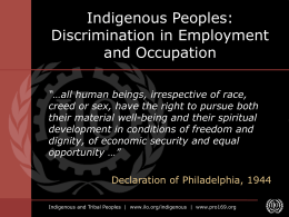 Discrimination in Employment and Occupation