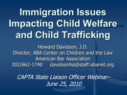 Child Welfare Law, Immigration Policy, and Their Intersection