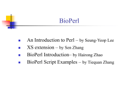 Bio-perl Introduction