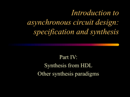 Introduction to basic concepts on asynchronous circuit …