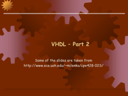 UAH, CPE428: VLSI Design II