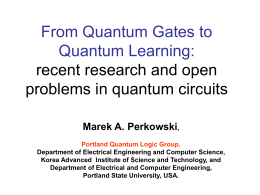 From Quantum Gates to Quantum Learning: recent …