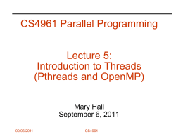 CS267: Introduction - University of Utah