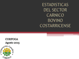ESTADISTICAS DEL SECTOR GANADERO COSTARRICENSE