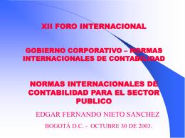 NICSP Normas Internacionales De Contabilidad Para El