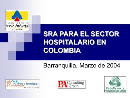 SRA PARA EL SECTOR HOSPITALARIO EN COLOMBIA