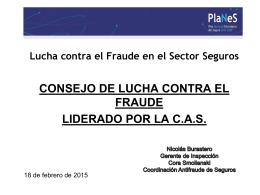 Lucha contra el Fraude en el Sector Seguros