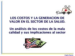 LOS COSTOS Y LA GENERACION DE VALOR