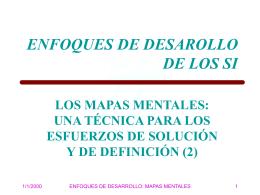 ENFOQUES DE DESARROLLO DE LOS SI
