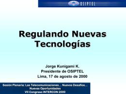 Perspectivas de Telecomunicaciones en el Per&#250