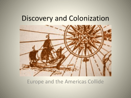 Discovery and Colonization