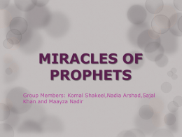 Miracles of Prophet Isa (A.S.)