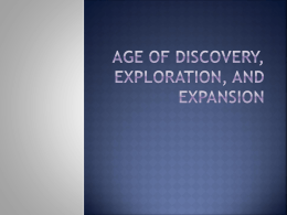 Age of Discovery, Exploration, and Expansion