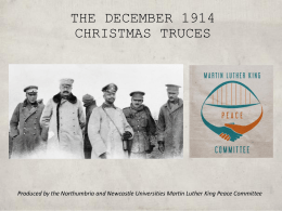THE 1914 CHRISTMAS TRUCES