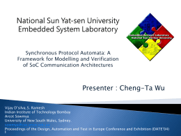 National Sun Yat-sen University Embedded System …