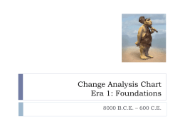 Change Analysis Chart Era 1: Foundations