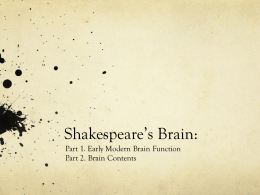 Shakespeare's Brain:
