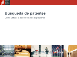 Searching for patents How to use the esp@cenet database