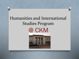 Humanities and International Studies Program