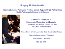 The Bridging Multiple Worlds Toolkit for Classrooms and