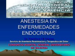 ANESTESIA EN ENFERMEDADES ENDOCRINAS