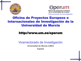 Introduction to the UMU (University of Murcia)