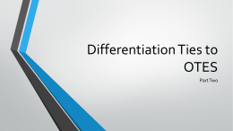 Differentiation Ties to OTES