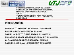 UNIVERSIDAD TECNOLOGICA DE JALISCO I INGENERIA EN