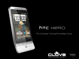 HTC Hero Training Slidedeck