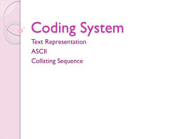 Coding System