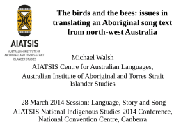 The birds and the bees: issues in translating an