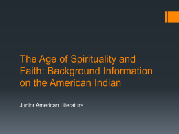 The American Indian Background Unit Information