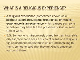 Arguments against religious experiences as proof that god