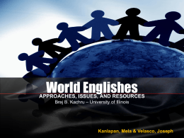 World Englishes - Universiti Putra Malaysia
