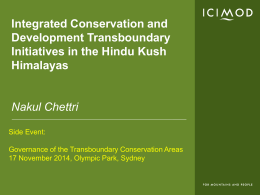 ICIMOD - Global Transboundary Protected Areas Network