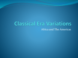 Classical Era Variations