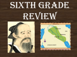 Sixth Grade Review - Los Alamitos Unified School District