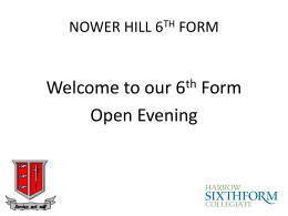 NOWER HILL 6TH FORM