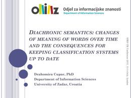 Diachronic semantics