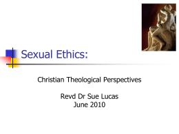 Sexual Ethics: