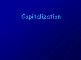 Capitalization - Iroquois Central School District