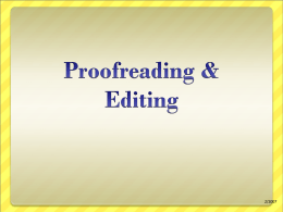 Proofreading - PowerPoints4Class