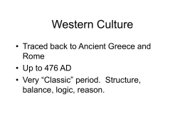 Western Culture - La Salle University