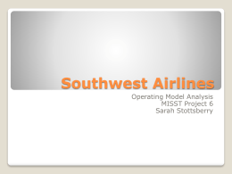 Southwest Airlines - Muskingum University