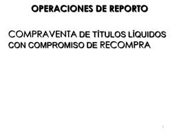 OPERACIONES DE REPORTO