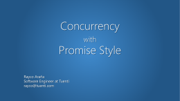 Concurrency with Promise Style