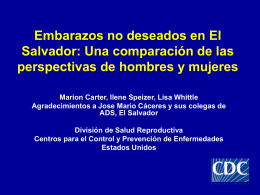 Unintended Pregnancy in El Salvador: A Comparison of …