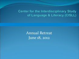 Center for the Interdisciplinary Study of Language