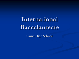 Internation Baccalaureate - Henry M. Gunn High School