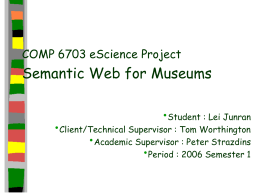 Semantic Web for Museums - Australian National University